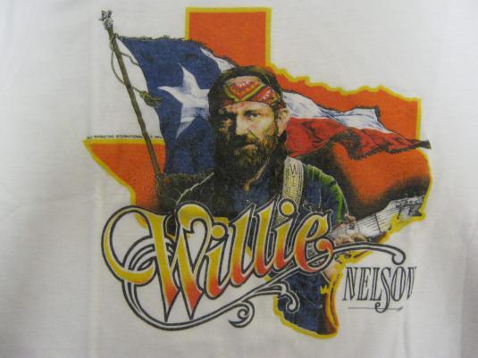 Willie Nelson Vintage 1984 Concert T-Shirt – Texas