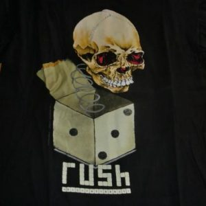 Rush Vintage 1991 Concert T-Shirt - Roll The Bones Tour