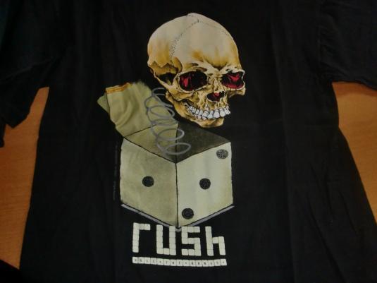 Rush Vintage 1991 Concert T-Shirt – Roll The Bones Tour