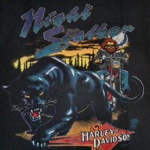 Harley Davidson - 1991 Night Stalker Vintage T-Shirt