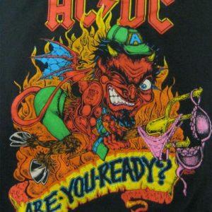 AC/DC Vintage 1990 Concert T-Shirt - Razors Edge Tour