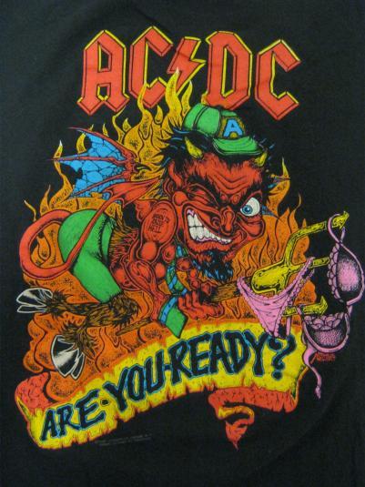 AC/DC Vintage 1990 Concert T-Shirt – Razors Edge Tour