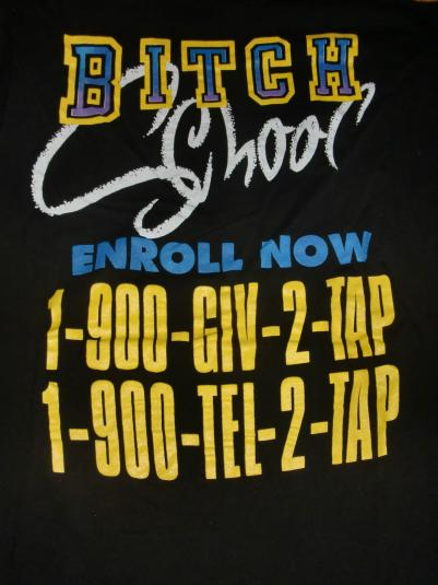 Spinal Tap 1992 Vintage Concert T-Shirt – Bitch School