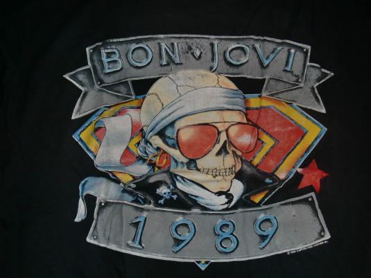 Bon Jovi Vintage 1989 Concert T-Shirt – Back Kickin Ass