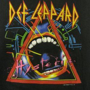 Def Leppard Vintage 1987 Concert T-Shirt ~ Hysteria Tour