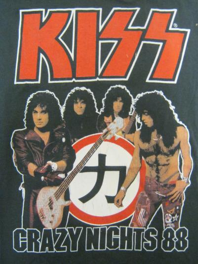 Kiss Vintage 1988 Concert T-Shirt – Crazy Nights Tour