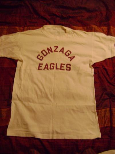 50s Champion Running Man Gonzaga Eagles T-shirt
