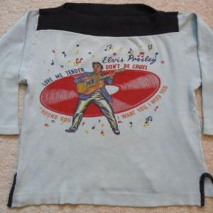 VTG 50s 1956 Elvis Presley First Concert Tour T-shirt