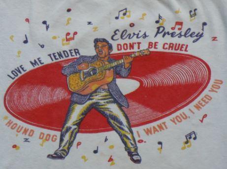 VTG 50s 1956 Elvis Presley First Concert Tour T-shirt