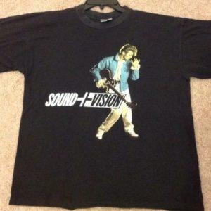David Bowie 1990 Sound Vision Tour Black T Shirt