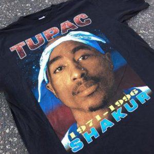 """Vintage 1996 Tupac """"Big Face"""" Memorial Tee"""