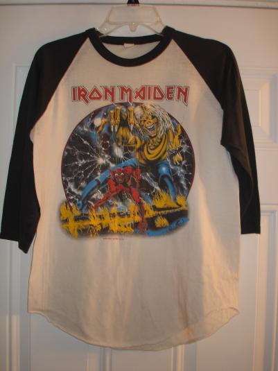 Iron Maiden 1982 Baseball Shirt