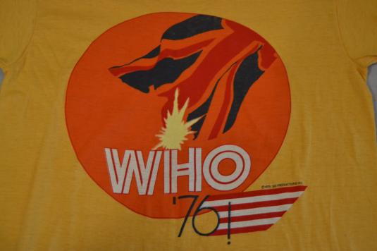 RARE 1976 The Who US Tour T-Shirt Deadstock New Old Stock