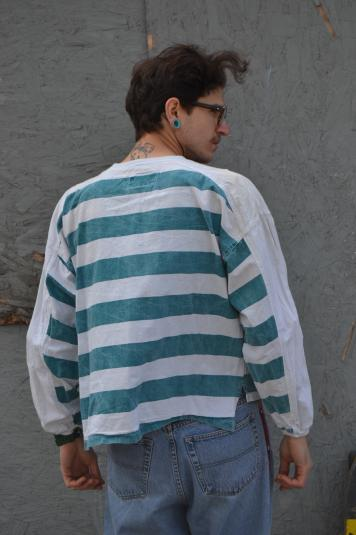 Awesome Vintage 90's Over Sized Striped Skate / Surf T-Shirt