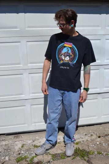 Super Sad Native American / Corning NY Vintage 1990 T-Shirt