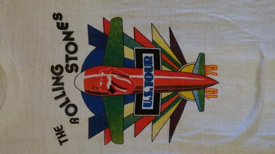 1975 The Rolling Stones US tour tshirt