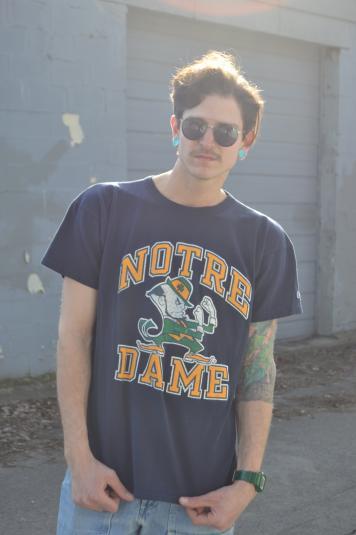 Classic Champion Brand 90's Notre Dame Ringer T-Shirt