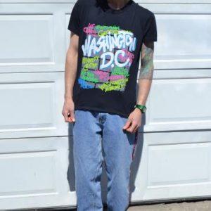 Amazing Vintage 80's Washington D.C. Graffiti Large T-Shirt