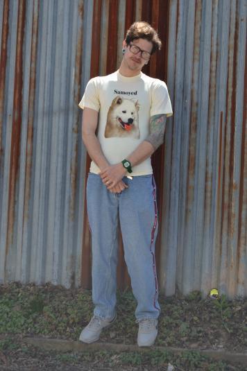Crazy Awesome Vintage 1990 Samoyed Breed Dog Small T-Shirt