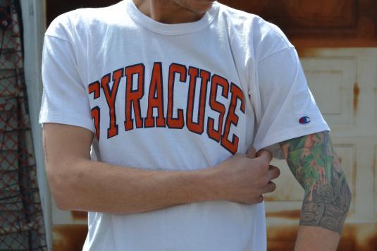 Amazing Vintage Syracuse Champion Brand Large T-Shirt