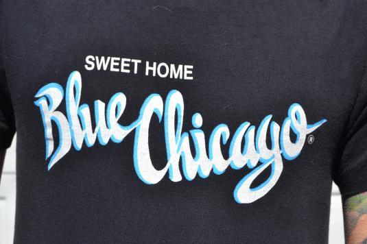 Awesome Vintage 90's Blue Chicago Jazz Club Medium T-Shirt