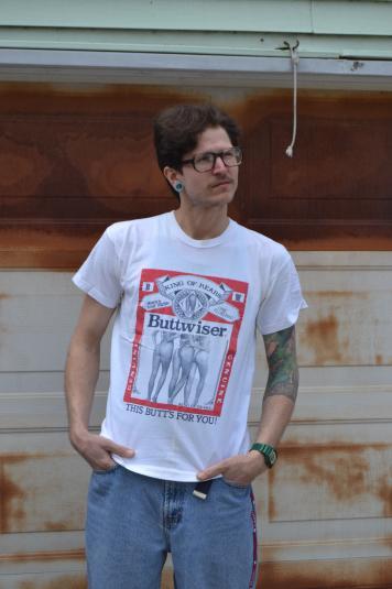"Vintage 80's Budwiser Knock Off ""Buttwiser"" Medium T-Shirt"
