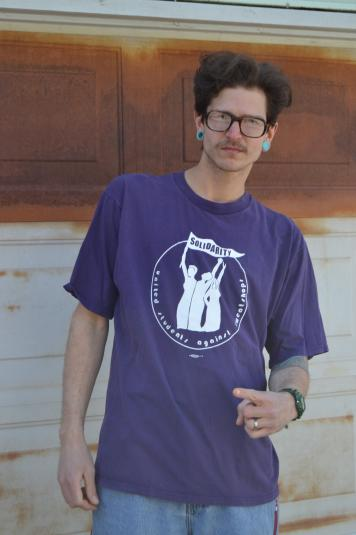 Legit Vintage 90's Solidarity Purple XL T-Shirt
