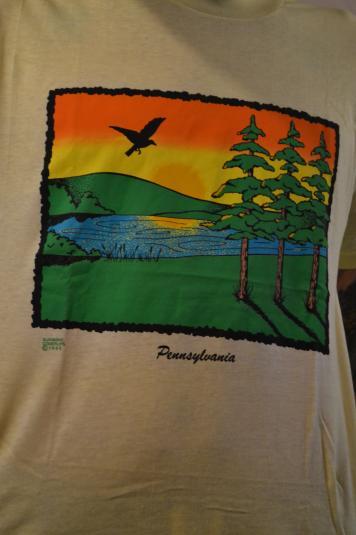 Crazy Cool Vintage 80's Pennsylvania T-Shirt