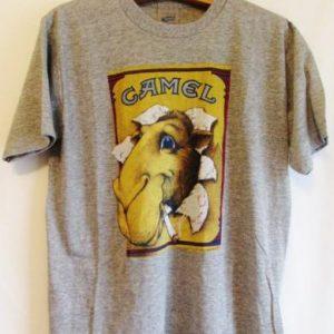 Vintage 1980's Joe Camel Cigarette Sneakers Tri Blend Tshirt