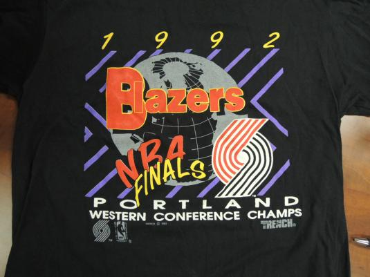 1992 Portland Trailblazers NBA FINALS Tee
