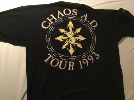 Sepultura Chaos A.D. Tour Shirt 1993