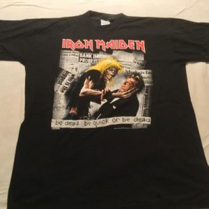 Iron Maiden - be quick or be dead T Shirt 1992
