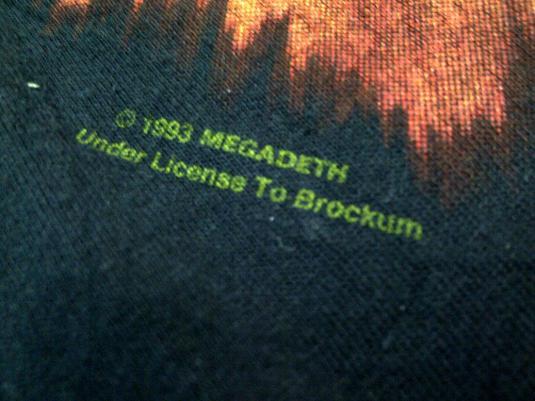 Vintage MEGADETH 1993 Sweater