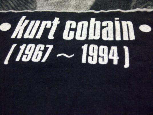 TRUE VINTAGE 90s KURT COBAIN NIRVANA GRUNGE 1967-1994 NIRVAN