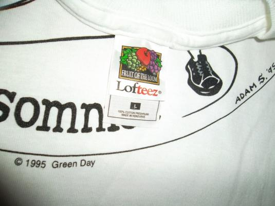 VINTAGE GREEN DAY 1995 INSOMNIAC PROMO TOUR CONCERT T-SHIRT