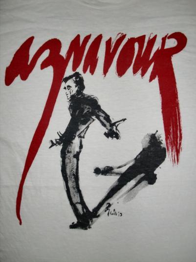 VINTAGE 80'S AZNAVOUR FRENCH JAZZ LEGEND T-SHIRT