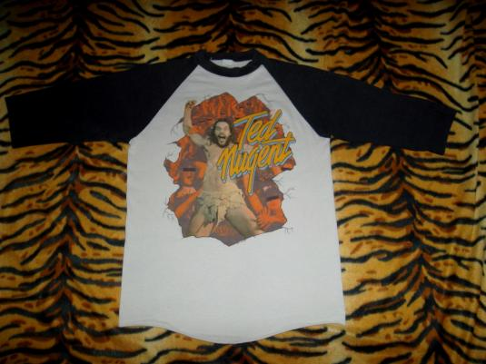 Vintage 1981 Ted Nugent Worldwide Tour Jersey T-shirt