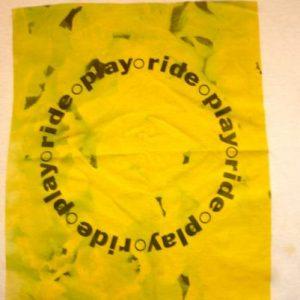 RIDE 'PLAY' PROMO 1989/90 BRITISH INDIE/SHOEGAZE T-SHIRT