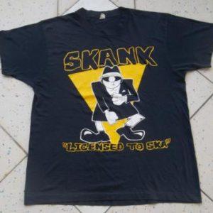 Vintage 1988 SKANK Licensed To Ska Promo Tour T-shirt