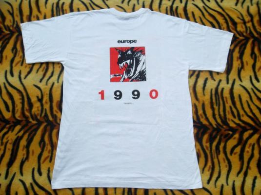 VINTAGE THE ROLLING STONES 1990 EUROPE TOUR CONCERT T-SHIRT