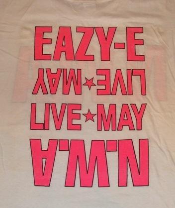 VINTAGE SUPER RARE N.W.A EAZY E 1988 T-SHIRT