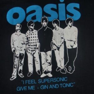 OASIS 1994 'SUPERSONIC' PROMO T-SHIRT