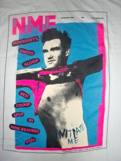 Morrissey N.M.E 1985 Magazine 1990 T-shirt