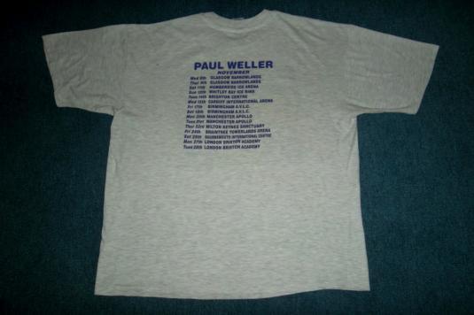 VINTAGE PAUL WELLER 1995 STANLEY ROAD PROMO T-SHIRT