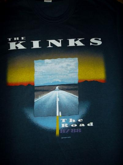 THE KINKS 'THE ROAD' 1987-88 PROMO TOUR CONCERT T-SHIRT