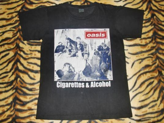 OASIS 1994 'CIGARETTE AND ALCOHOL' PROMO T-SHIRT
