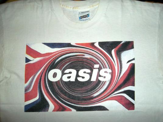 OASIS 1994 GLASTONBURY PROMO TOUR CONCERT T-SHIRT