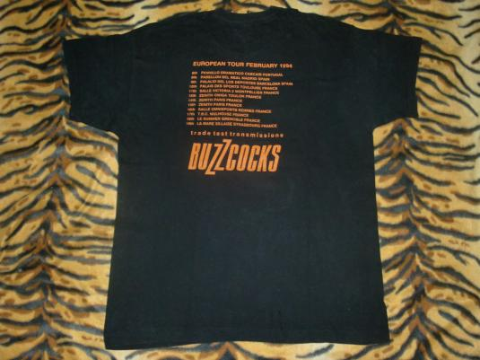 Vintage The Buzzcocks Signed tour T-shirt