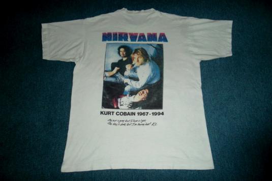 VINTAGE KURT COBAIN NIRVANA 1990s 1994 GRUNGE T-SHIRT