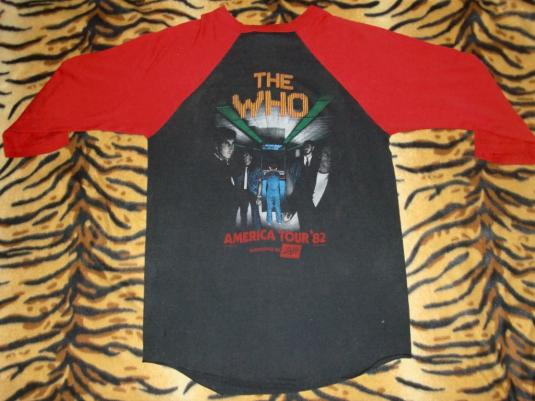 VINTAGE THE WHO AMERICAN TOUR 1982 JERSEY T-SHIRT